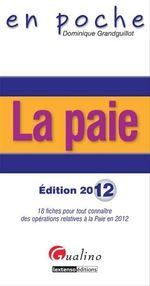 Vente Livre Numérique : La paie 2012  - Dominique Grandguillot