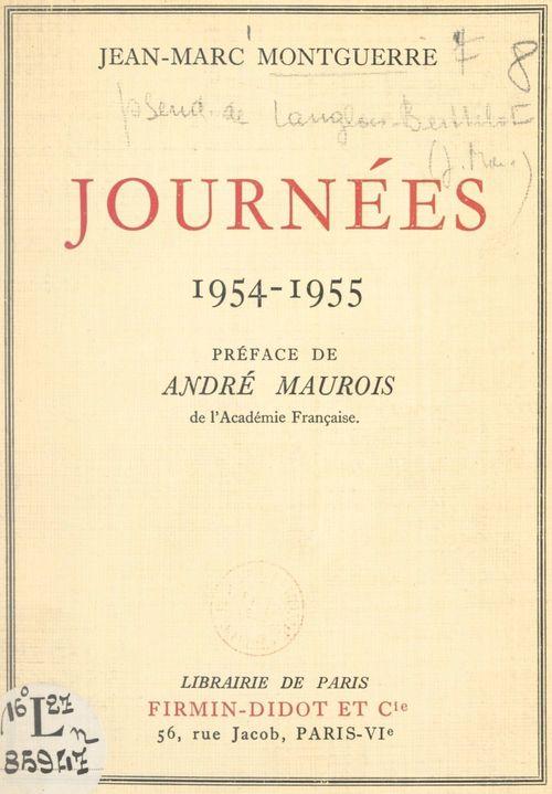 Journées  - Jean-Marc Montguerre