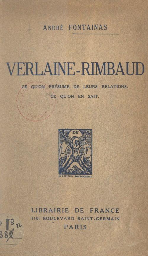 Verlaine-Rimbaud  - André Fontainas