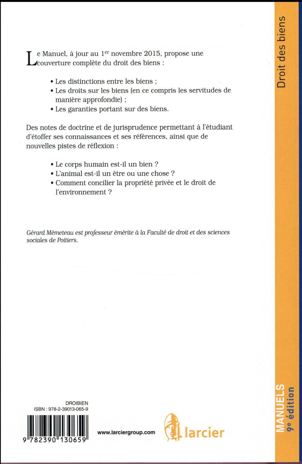 Droit des biens (9e édition)