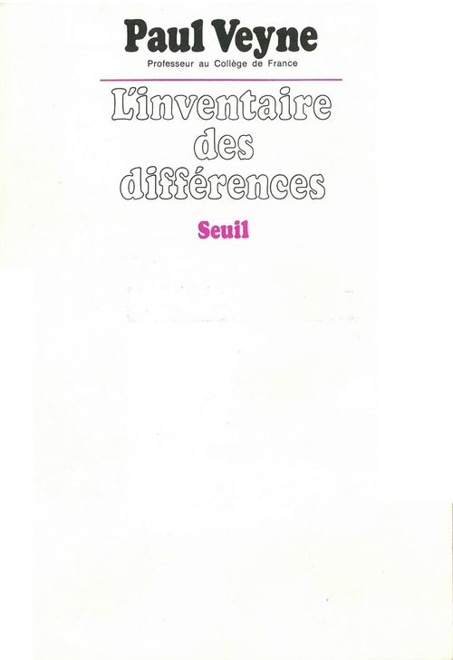 Inventaire des differences