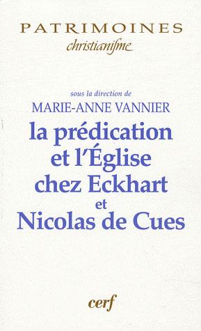 La predication et l'eglise chez maitre eckhart et nicolas de cues