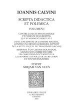 Vente EBooks : Contre la secte phantastique et furieuse des libertins qui se nomment spirituelz. Response à un certain holandois. Series IV. Sc  - Jean Calvin