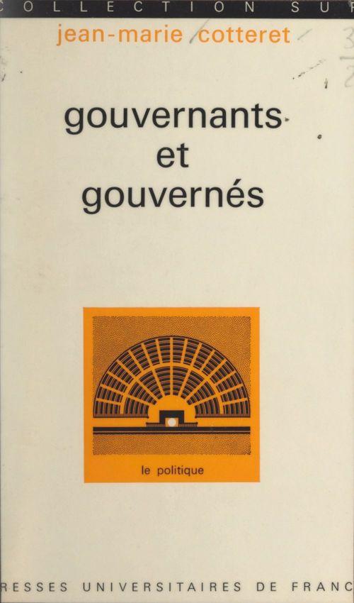 Gouvernants et gouvernés