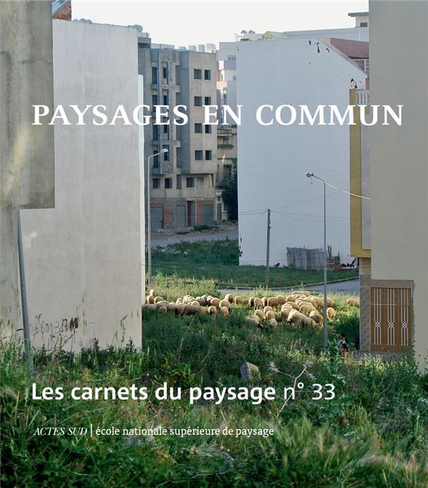 LES CARNETS DU PAYSAGE n.33 ; paysages en commun