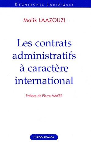 les  contrats administratifs à caractère internation