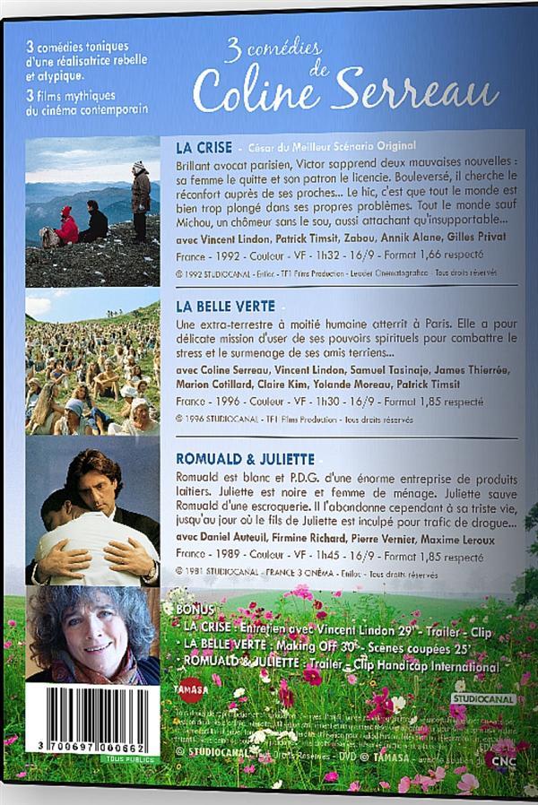 Coline Serreau : La belle verte + Romuald et Juliette + La crise