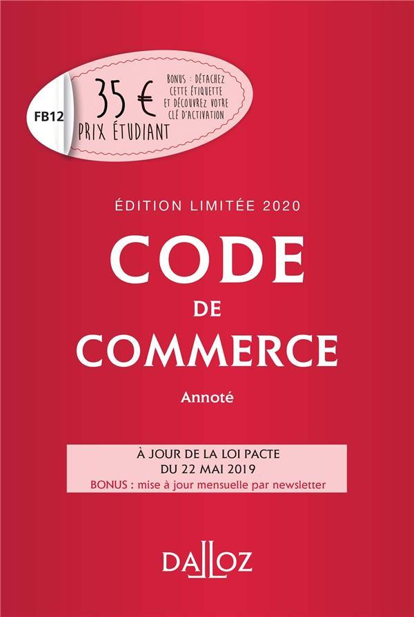 Code de commerce (édition 2020)