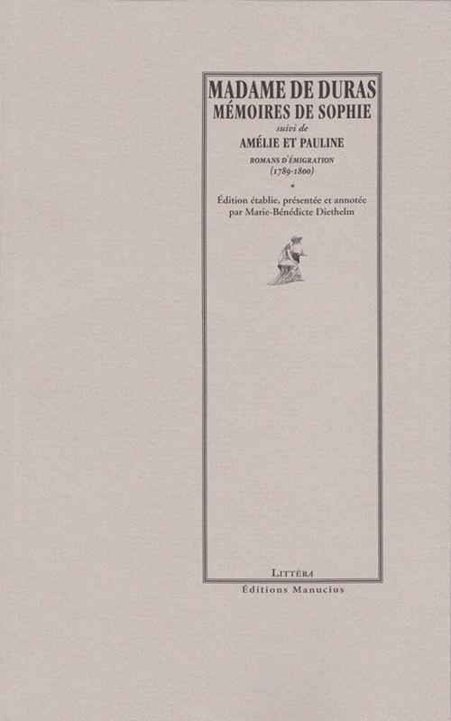 Mémoires de Sophie ; roman de l'émigration