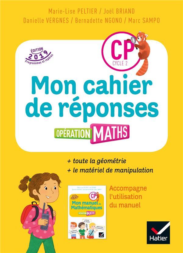 Opération maths ; CP ; cahier de réponses + matériel (édition 2019)