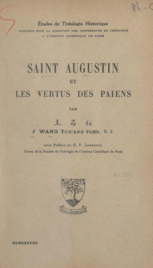Saint Augustin et les vertus des Païens