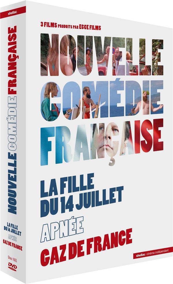 Coffret Nouvelle comédie française : La Fille du 14 juillet + Apnée + Gaz de France