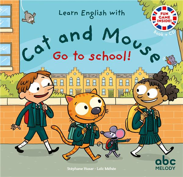 Learn english with cat and mouse ; go to school