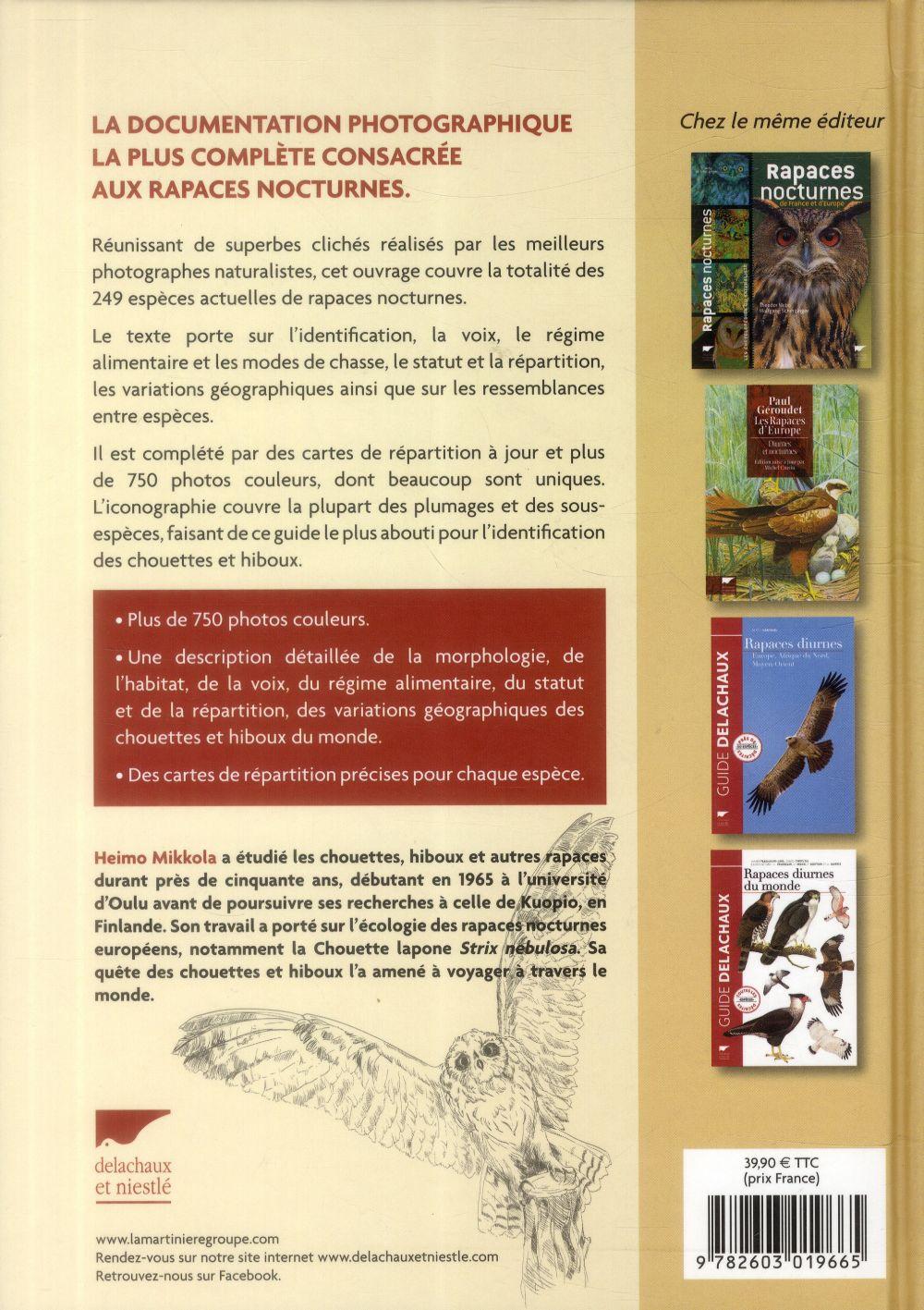 Chouettes et hiboux du monde ; un guide photographique