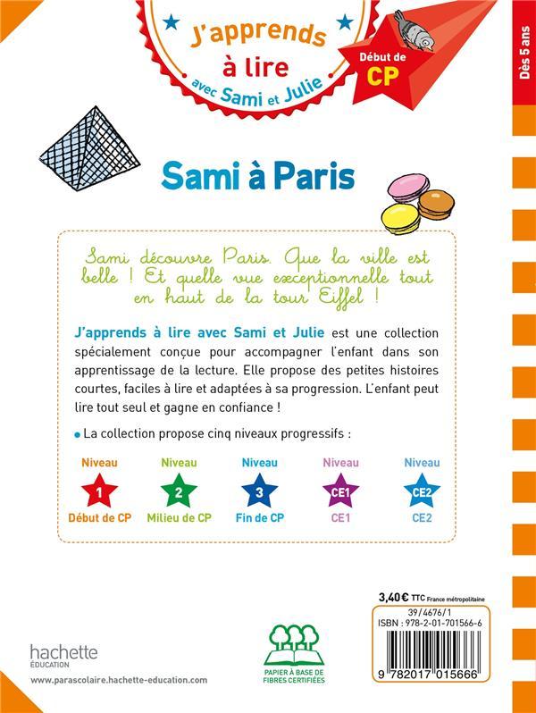J'apprends à lire avec Sami et Julie ; CP niveau 1 ; Sami à Paris
