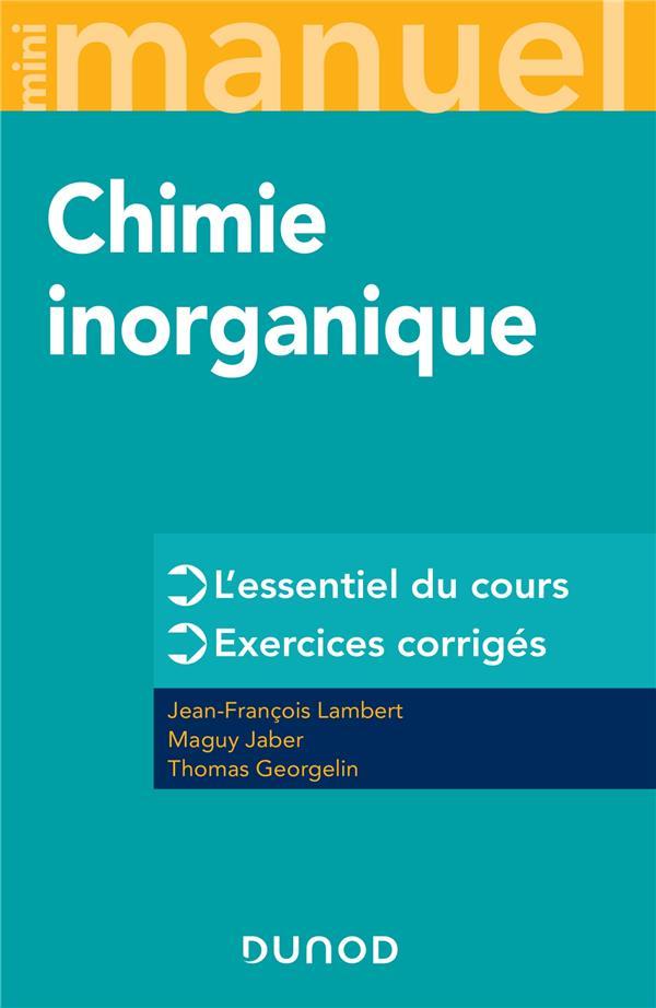 Mini manuel ; chimie inorganique