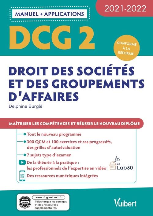 DCG t.2 ; droit des sociétés et des groupements d'affaires