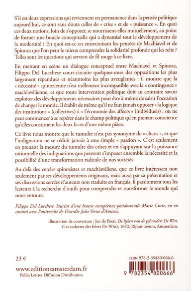 Tumultes et indignation ; conflit, droit et multitude chez Machiavel et Spinoza