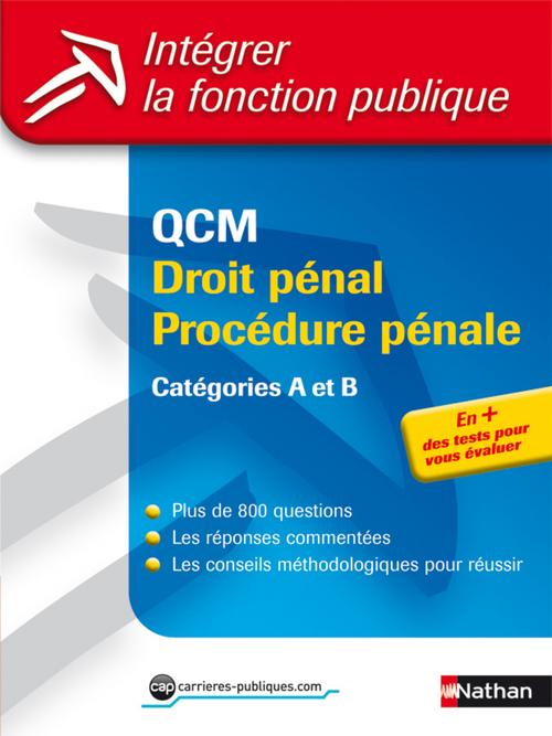QCM droit pénal/procédure pénale ; catégories A et B