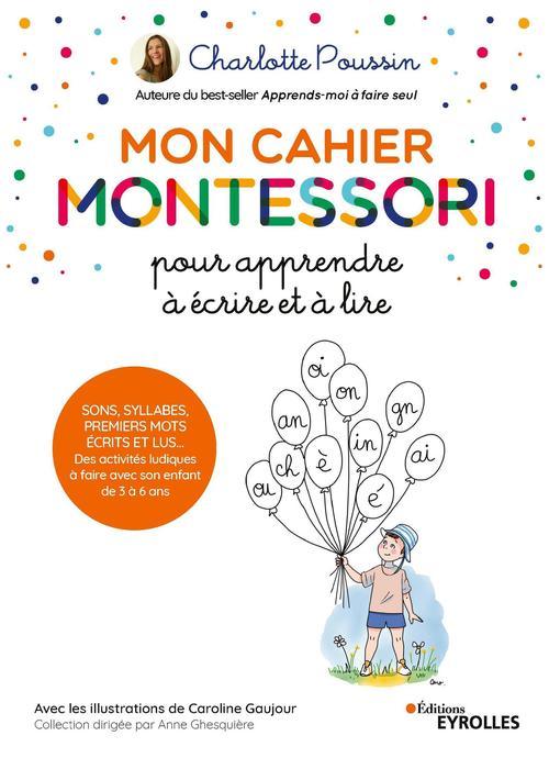 Vente Livre Numérique : Mon cahier Montessori pour apprendre à écrire et à lire  - Charlotte Poussin
