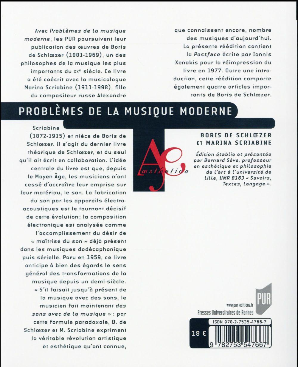 Problèmes de la musique moderne
