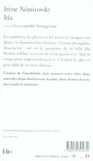 Ida ; la comédie bourgeoise