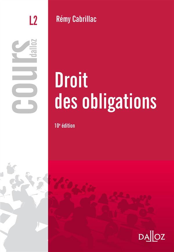 Droit Des Obligations (Edition 2012)
