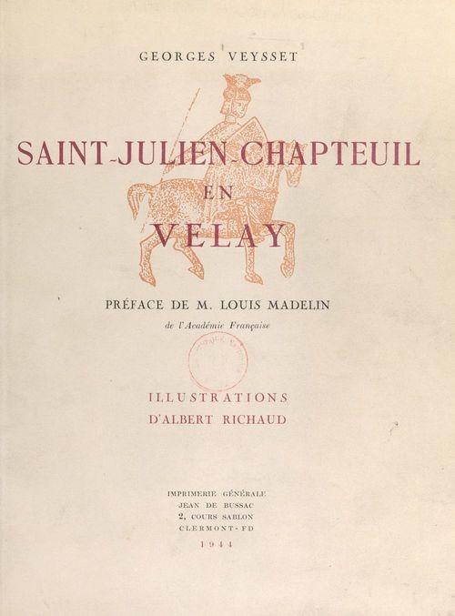 Saint-Julien-Chapteuil en Velay