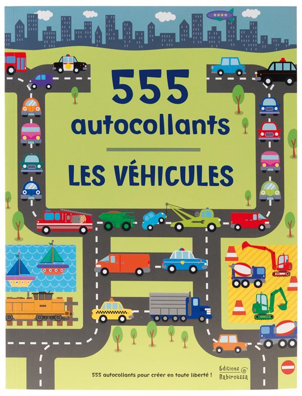Les véhicules ; 555 autocollants