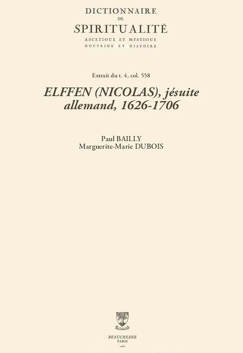 ELFFEN (NICOLAS), jésuite allemand, 1626-1706