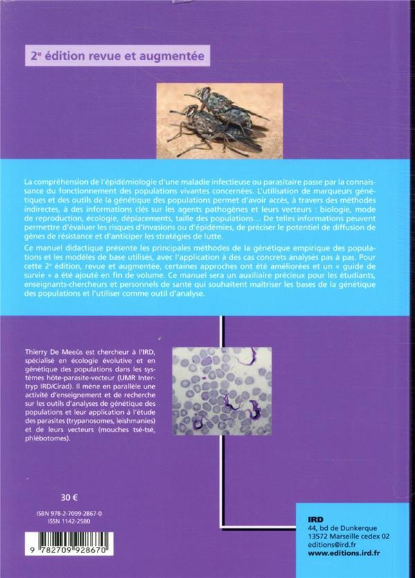 Initiation a la genetique des populations naturelles - applications aux parasites et a leurs vecteur