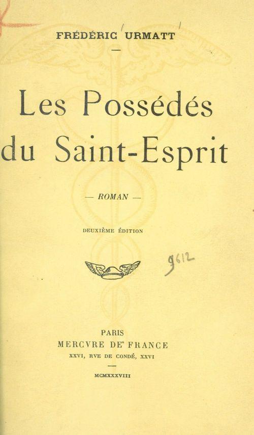 Les possédés du Saint-Esprit