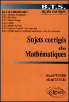 Sujets Corriges De Mathematiques Bts De Laboratoires