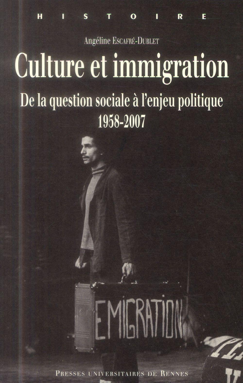 Culture et immigration ; de la question sociale à l'enjeu politique, 1958-2007