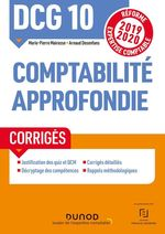 Vente EBooks : DCG 10 Comptabilité approfondie - Corrigés  - Marie-Pierre Mairesse - Arnaud Desenfans