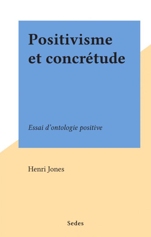 Positivisme et concrétude
