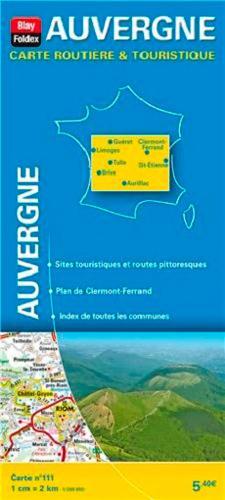 Carte routière & touristique N.111 ; Auvergne (édition 2013)