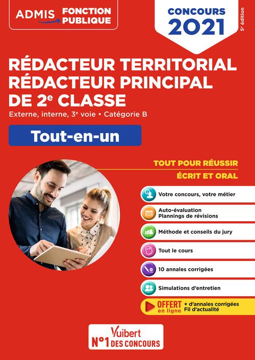 Concours rédacteur territorial et rédacteur principal 2e classe ; catégorie B (édition 2021)
