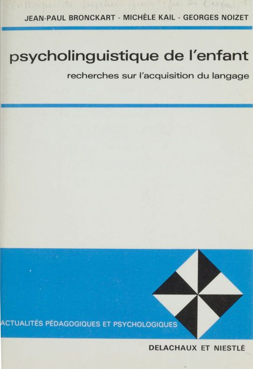 Psycholinguistique de l'enfant