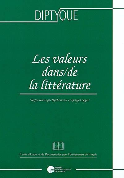 Les valeurs dans/de la littérature
