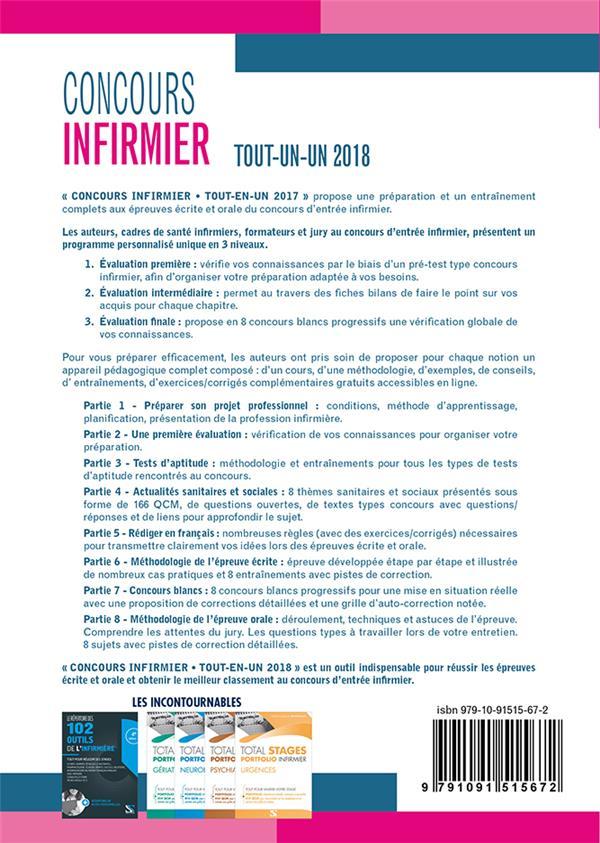 Concours infirmier ; tout-en-un ; épreuves écrite et orale ; (concours IFSI 2018)