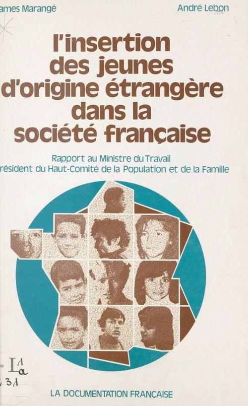 L'insertion des jeunes d'origine étrangère dans la société française