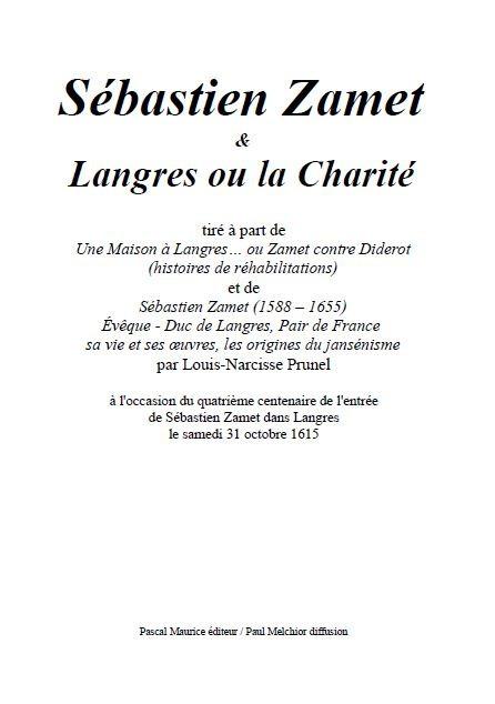 Sébastien Zamet et Langres ou la Charité