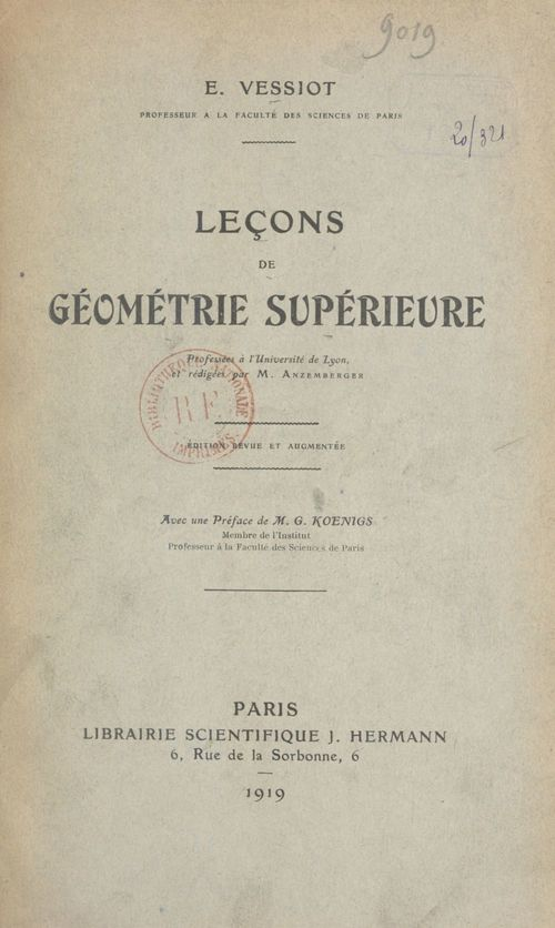 Leçons de géométrie supérieure