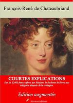 Vente Livre Numérique : Duchesse de Berry - suivi d'annexes  - François-René de Chateaubriand