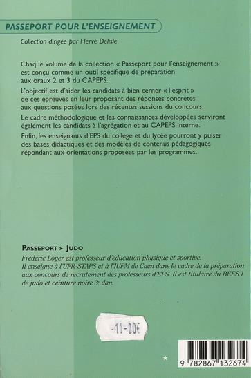 Passeport judo - oral 3 : preparation concours