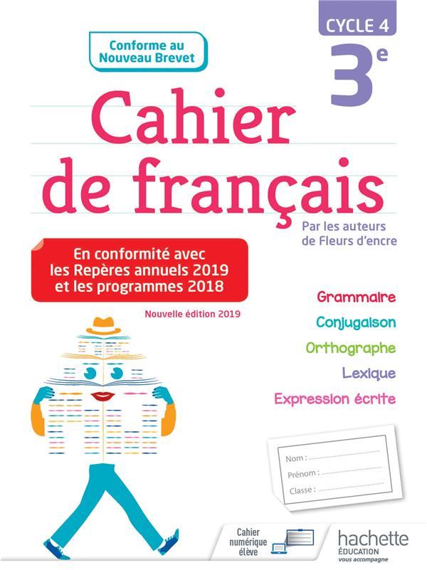 Cahier De Francais Cycle 4 3e Edition 2019 Chantal Bertagna Francoise Carrier Hachette Education Grand Format Lamartine Paris