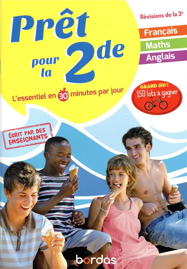 Pret Pour La 2de Francais Mathematiques Anglais Edition 2019 Collectif Bordas Grand Format Doucet Le Mans