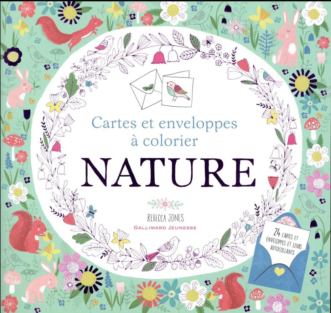 Nature - cartes et enveloppes a colorier