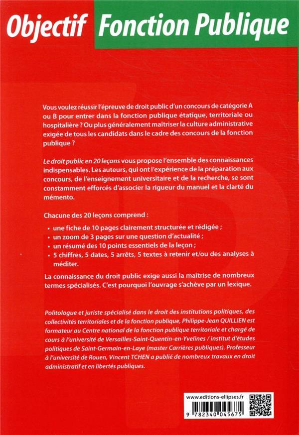 Le droit public en 20 leçons (9e édition)